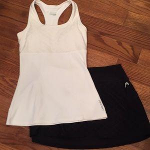 Head tennis bundle top XS, skirt Small